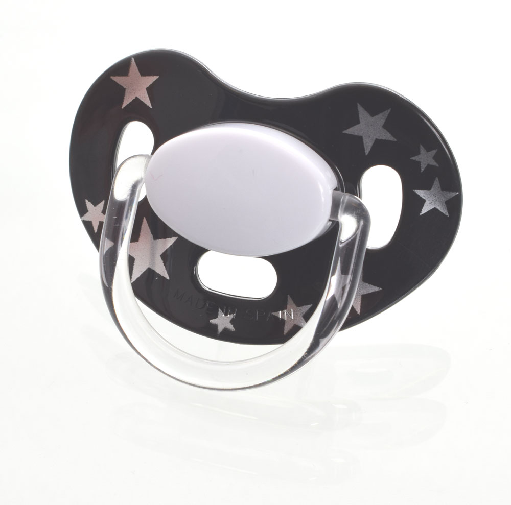 Maxibaby Star MyPacifiers, symmetrical, silicone, size 1