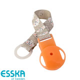 Esska pacifier holder with clouds, orange