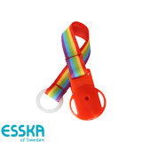 Esska pacifier holder with rainbow