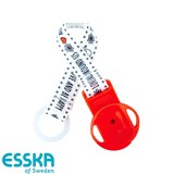 Esska pacifier holder with LOVE, red