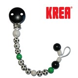 Krea pacifier holder with footballs