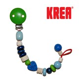 Krea pacifier holder with hearts, blue
