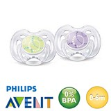 Philips Avent Freeflow, symmetrical, silicone size 1 (purple, green)