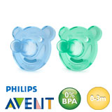 Philips Avent Soothie, round, silicone size 1