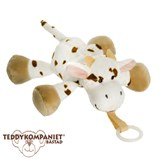 Teddykompaniet Diinglisar cuddly toy with pacifier holder, cow