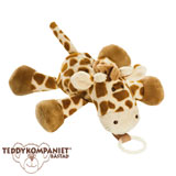 Teddykompaniet Diinglisar cuddly toy with pacifier holder, giraffe