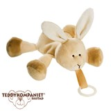 Teddykompaniet Diinglisar cuddly toy with pacifier holder, rabbit