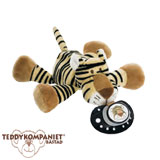 Teddykompaniet Diinglisar cuddly toy with pacifier holder, tiger