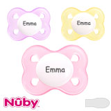 Nûby Brites Mini MyPacifiers, symmetrical, silicone, size 0