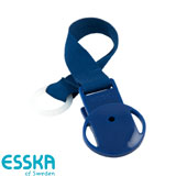 Esska Click pacifier holder, blue