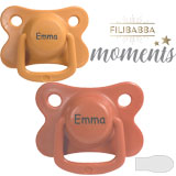 Filibabba Moments MyPacifiers, symmetrical, silicone, size 2