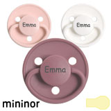 Mininor MyPacifiers, round, latex, size 1