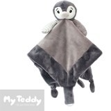 My Teddy security blanket, grey, penguin