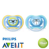 Philips Avent Ultra Air Pacifiers, symmetrical, silicone, size 3