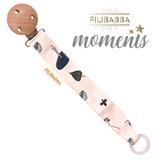 Filibabba Moments, pacifier clip, Forest Floor Blue