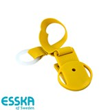 Esska Click pacifier holder, yellow