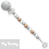 My Teddy Pacifier Chain, My Baby Rocks, grey/mable