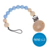 Bebe-llo Pacifier Chain, silicone, Baby Blue