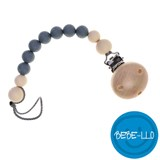 Bebe-llo Pacifier Chain, silicone, Grey