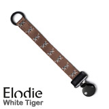 Elodie Details pacifier clip, White Tiger